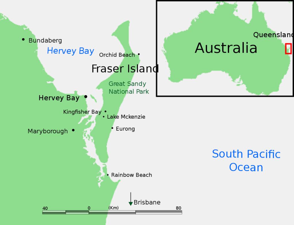 fraser island mapa