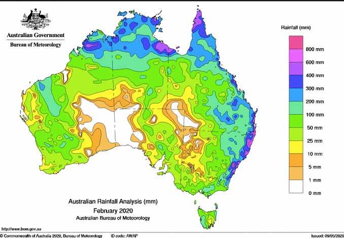 Precipitaciones en Australia
