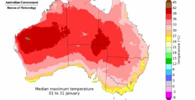 Temperatura Australia Enero