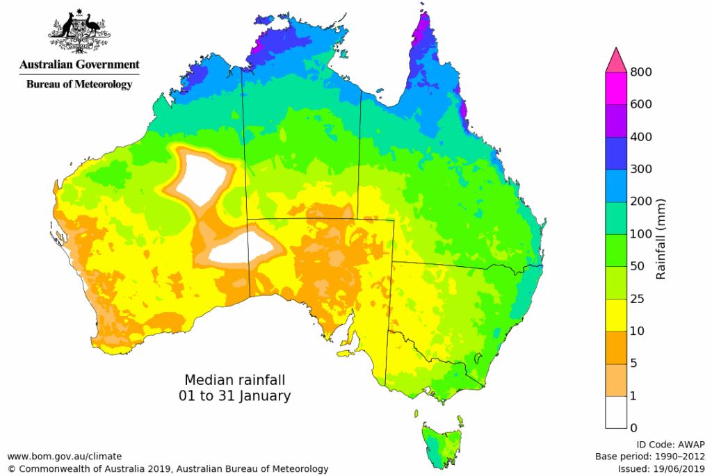 lluvia australia enero