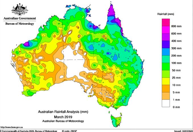 lluvia australia marzo